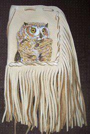 "Custom Deerskin portrait bag 65.00  pouch 5"" x 4"" length with fringe aprox 12"" kelly2wolves@yahoo.com"