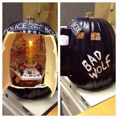 Sure, we've posted a TARDIS pumpkin last week, but this one definitely takes the palm.  Too bad the inside is so small. It also needs a swimming pool.