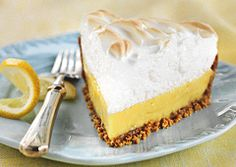 lemon meringue pie-- This is the real deal! It was just like the ones I remembered eating as a child. I made my own graham cracker crust with 24 crackers, 1/4 cup sugar and 1/3 cup melted butter. Otherwise, I followed the recipe.-- NW