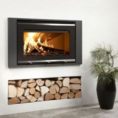 Westfire Uniq 32 Wood Burning Inset Stove - Full Glass Front - £2,389.00 :