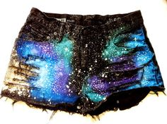 Black Galaxy Shorts for Girls - Cool Galaxy Shorts for Girls #galaxy #shorts www.loveitsomuch.com
