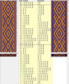 26 tarjetas, 2 colores intercambiados, repite cada 24 movimientos // sed_345 diseñado en GTT༺❁