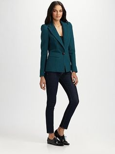 #teal #blazer! (Sadly, yet another choke-me-up price.)