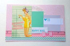 Mail Art envelope Handmade Mail Art envelope by ArasPaperCreations, #snailmail #handmade #envelope