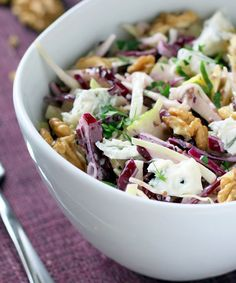 Easy red cabbage salad lunch and dinner recipes еда, рецепты Red Cabbage Salad, Cabbage Salad Recipes, Salad Recipes For Dinner, Chicken Salad Recipes, Healthy Salad Recipes, Veggie Recipes, Delicious Recipes, Healthy Foods, Yogurt Chicken Salad