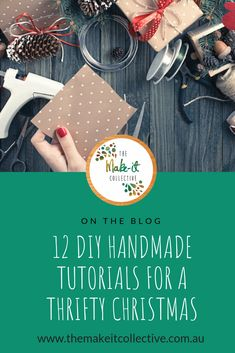 This Christmas, trade consumerism for creativity with these DIY handmade Christmas tutorials ranging from easy-peazy to totally achievable. Diy Presents, Diy Gifts, Handmade Gifts, Diy Christmas Gifts, Handmade Christmas, Christmas Decorations, The Make, How To Make, Consumerism