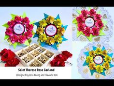 Origami Maniacs 482: Saint Therese Rose Garland - YouTube Origami Wreath, Origami Stars, Rose Garland, St Therese, Saints, The Creator, Youtube, Design, Mandalas