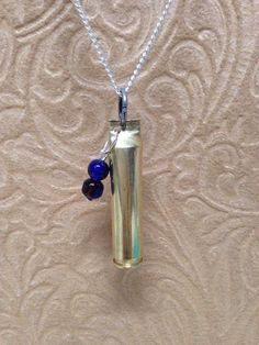 223 Brass Necklace with Silver Chain and by BlingingBullets