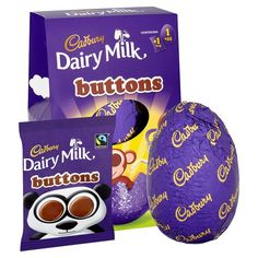 Hollow milk chocolate egg with milk chocolate buttons. Your Easter Egg has been made with Cadbury Dairy Milk Ideal for the Gift. Cadbury Chocolate Buttons, Giant Easter Eggs, Cadbury Dairy Milk, Easter Celebration, Peanut Butter Cups, Confectionery, Gifts For Kids, Chocolates, Food