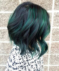 Pretty Peacock Green Hairstyles 2016