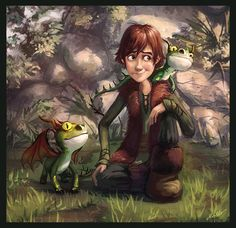 How to train your dragon was one of my favorite movies... There's no Toothless here, but those cute little guys make up for it, huh?