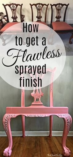 How to Spray Your Old Furniture (with ease) - ThatSweetTeaLife