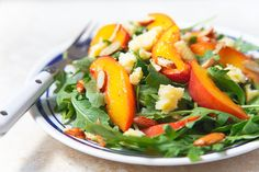 Nectarine Salad with Almonds and Cheddar