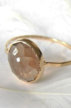 Smoky Quartz Stacking Gemstone Ring