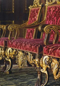 Stately chairs hold court at Houghton Hall.  ~Splendor