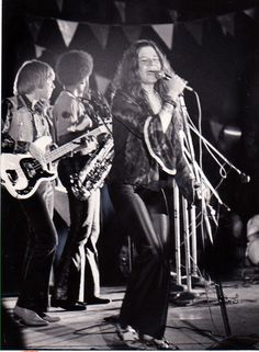 Janis Joplin and the Kozmic Blues Band, Texas International Pop Festival, Lewisville, Labor Day weekend, 1969. (Robert Shaw/The Dallas Morning News)