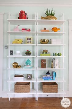 Shelf Styling - in color order. via @inspiredbycharm