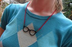 Gifts under $25 • hipster glasses red suede necklace with rhinestone toggle clasp • Doctor Who • Black Friday deals • Small Business Saturday free shipping WORLDWIDE (see shop page for details) • Cyber Monday  http://www.shimmershow.etsy.com