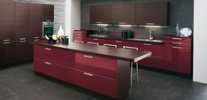 Stunning Burgundy-brown-kitchen by GeD Cucine