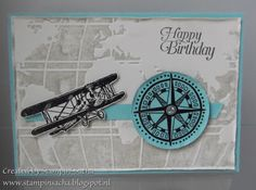 Stampin' Sacha - Stampin' Up! - Occasions Catalog 2016 - Going Global - Sale-A-Bration - Sky is the Limit - mens card - heat embossing