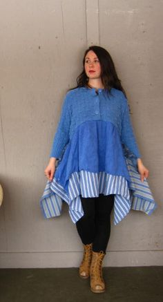 Romantic patchwork dress Artsy upcycled by lillienoradrygoods, $95.50