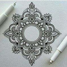 Mandala tattoos have been popular around the world for many years, and now its trend is getting higher and higher. mandala comes from Hinduism and Buddhism, and many people choose it as a tattoo design because it looks delicate and beautiful. Mandala Tattoo Design, Dotwork Tattoo Mandala, Henna Mandala, Mandala Sketch, Mandala Doodle, Lotus Mandala, Small Mandala Tattoo, Mandala Art Designs, Doodle Art Designs