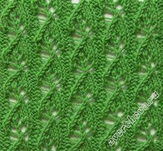 узор 375 Lace Knitting Stitches, Lace Knitting Patterns, Knitting Charts, Lace Patterns, Knitting Designs, Knitting Yarn, Hand Knitting, Stitch Patterns, Knitted Headband