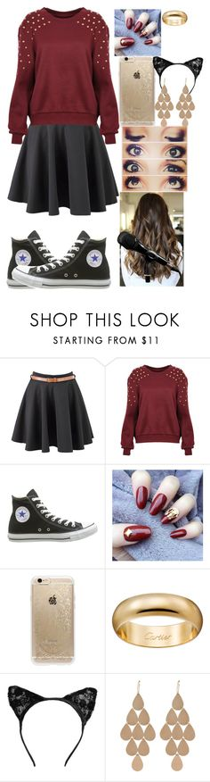"""Untitled #596"" by trustsalvatore ❤ liked on Polyvore featuring Converse, Rifle Paper Co and Irene Neuwirth"