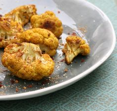 roasted cauliflower, season however you like and drizzle olive oil over, then bake at 200 degrees for 40 mins.