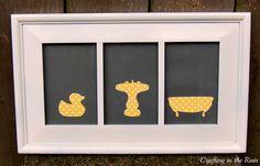 Crafting in the Rain: Easy Bathroom Silhouette Art