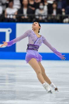 Mao Asada of Japan competes in the Ladies Singles Free Skating during the Japan Open 2015 Figure Skating at Saitama Super Arena on October 3, 2015 in Saitama, Japan. (1024×1536)