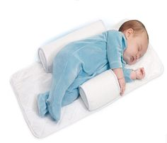 As new parents know, baby's comfort and safety is their main concern. Molto brings some peace of mind to naptime with their anti-roll sleep positioner. This padded sheet cover fits in any crib or bassinet. And the sleep supporters keep your newborn safely on their side offering back support and allowing them to breathe easier, with freedom of movement for their little arms and legs. Machine washable and stain resistant, this easy to carry sleeping pad is a must-have for newborns!