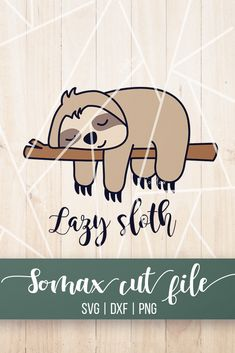 Phone Decals, Phone Stickers, Laptop Decal, Free Stickers, Vinyl Decals, Silhouette Projects, Silhouette Design, Silhouette Cameo, Baby Sloth