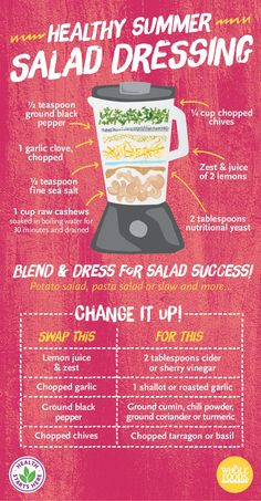 I love cheesy-tasting dressings and sauces that use nutritional yeast. How do you dress your salad? I would just soak the cashews in warm water for a few hours. Healthy Salads, Healthy Eating, Healthy Recipes, Healthy Summer, Summer Salads, Sauce Dips, Whole Food Recipes, Cooking Recipes, Sauces
