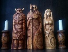 Norse Statue Wood Carving