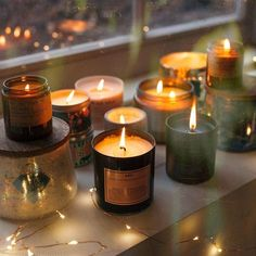 Ana Rosa, urbanoutfitters: Merry and bright. Tin Candles, Scented Candles, Candle Jars, Autumn Aesthetic, Cozy Aesthetic, Theme Noel, Print Artist, New Wall, Merry And Bright
