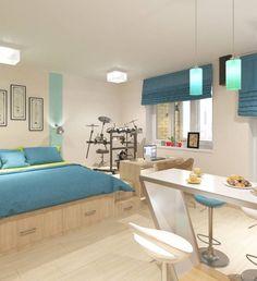 Salas de estilo minimalista por Студия дизайна Виктории Силаевой