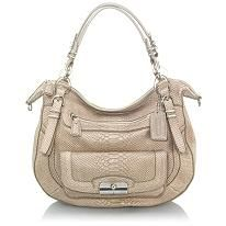 Coach Pinnacle Embossed Python Laila Round Satchel Handbag  #BBOSBrandBurst