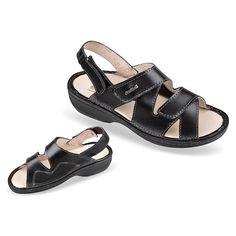 """Sandale ortopedice, profesionale, pentru femei, din piele naturala, OrtoMed 3703-P134. Special proiectate pentru """"monturi"""" / Hallux Valgus. Gama de marimi fabricate: 36-42. Calapod mai lat decat cel standard. Brant anatomic cu suport plantar, detasabil / interschimbabil. Sandalele sunt reglabile pe picior: cele trei barete sunt prevazute cu velcro/""""arici"""" /""""scai"""". Talpile sunt fabricate din poliuretan, sunt ortopedice si sunt cusute in intregime. Shoes, Fashion, Sandals, Bunion, Moda, Zapatos, Shoes Outlet, Fashion Styles, Shoe"""