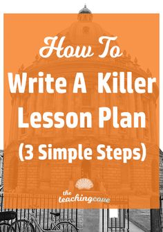 Need to write a killer lesson plan quickly? Check out today's post for my 3 simple steps to write a lesson plan! I've even got a lesson planning freebie on the way for you, too! Are you an English teacher that needs English teaching resources? Sign up for my free printables library if you don't have access already. Library Lesson Plans, Writing Lesson Plans, English Lesson Plans, Music Lesson Plans, Kindergarten Lesson Plans, Writing Lessons, Lesson Planning, Curriculum Planning, Facs Lesson Plans
