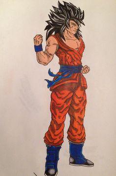 Super Saiyan 4 Goku w/out fur