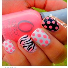 Pretty in Pink nails! #nailart #nails