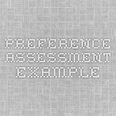 Paired Stimulus Preference Assessment Data Sheet