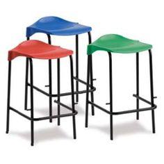 classroom furniture low back lab stool variety of colours Classroom Stools, Classroom Furniture, School Furniture, Classroom Design, High Top Tables, High Stool, Bar Stools, Metal, Lab