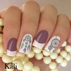 Mis uñas decoradas para la playa! Maquillaje tips #uñasdecoradasbonitas Fancy Nails Designs, New Nail Designs, Pretty Nail Art, Beautiful Nail Art, Aztec Nails, Perfect Nails, Nail Polish Colors, Trendy Nails, Nail Arts