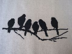 Birds Cross Stich Pattern by FiodeOuroCrafts on Etsy