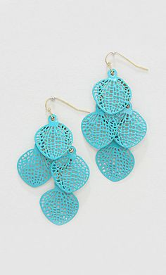 Avi Chandelier Earrings in Turquoise