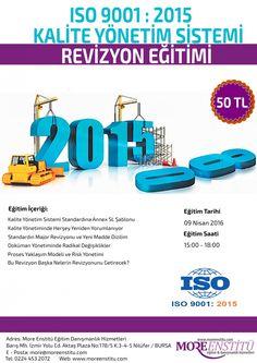 ISO 9001:2015 REVİZYON KALİTE YÖNETİM SİSTEMİ REVİZYON EĞİTİMİ - MORE ENSTİTÜ