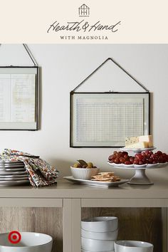 Style tip: Arrange a buffet table with tall serving pieces in back and shorter ones in front.