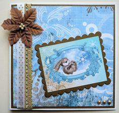 Christmas card rabbit
